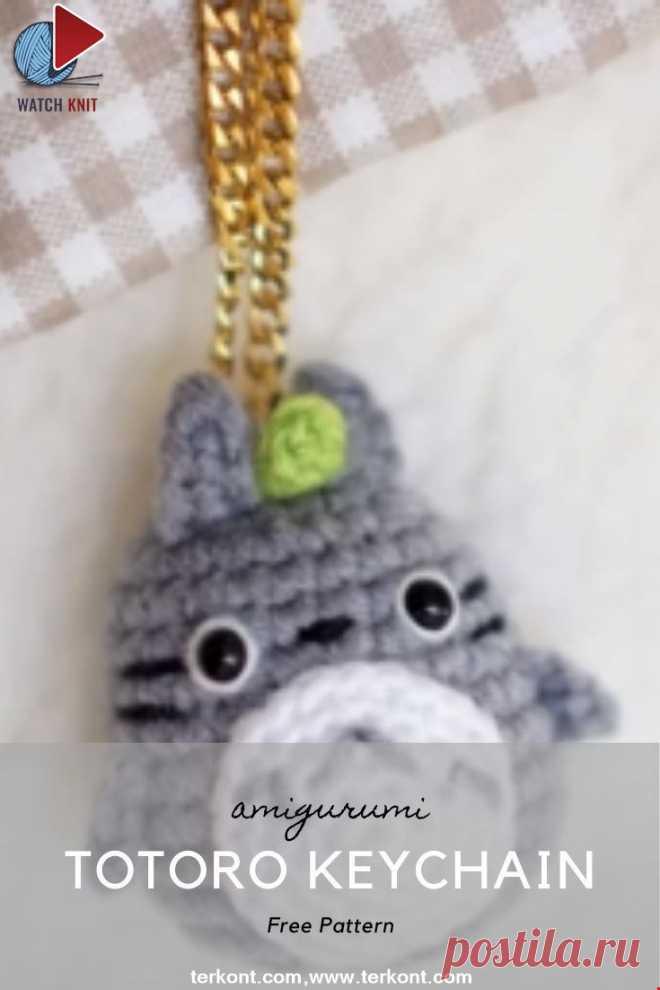 How to Make Amigurumi for Beginner - Super Cute Totoro Keychain