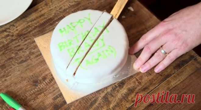 Шок! Мы все время неправильно нарезали торт