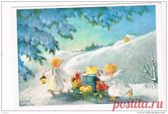 Hannes Petersen ( Ханнес Петерсен, German, 1885-1960) новогодние открытки