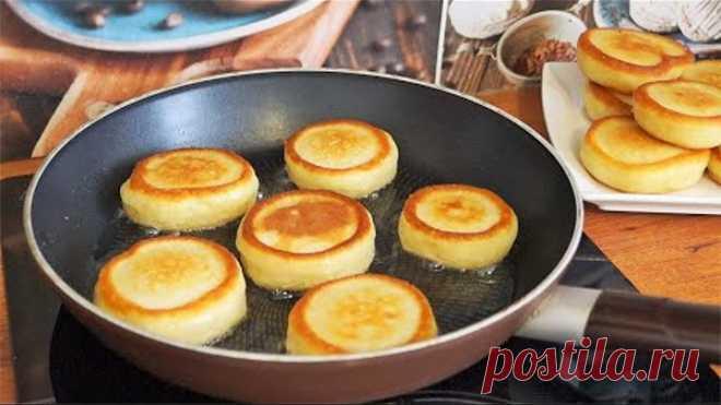 ОЛАДЬИ КАК ПОНЧИКИ! Самые Вкусные и ПЫШНЫЕ. Завтрак ЗА 15 Минут!