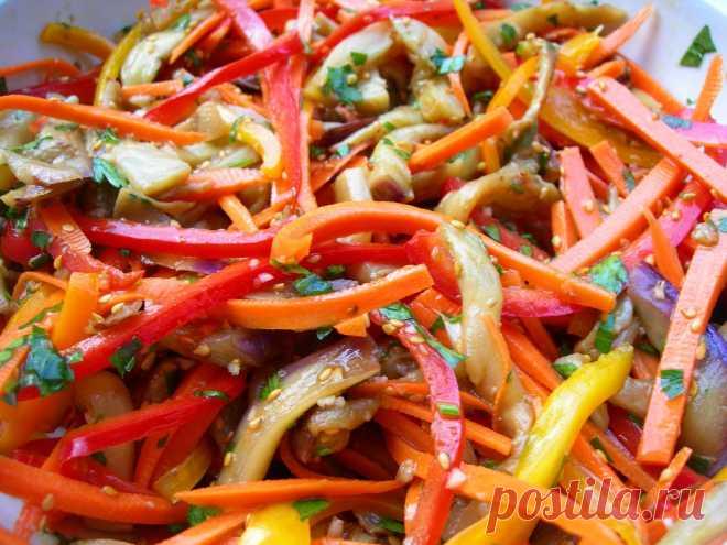 Салат из баклажанов с красным перцем.| Вкусные путешествия.