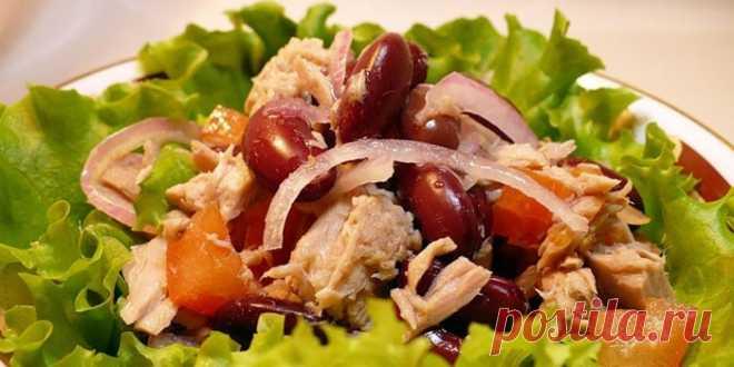 Салат с красной фасолью - рецепты с фото. Вкусные салаты с консервированной красной фасолью