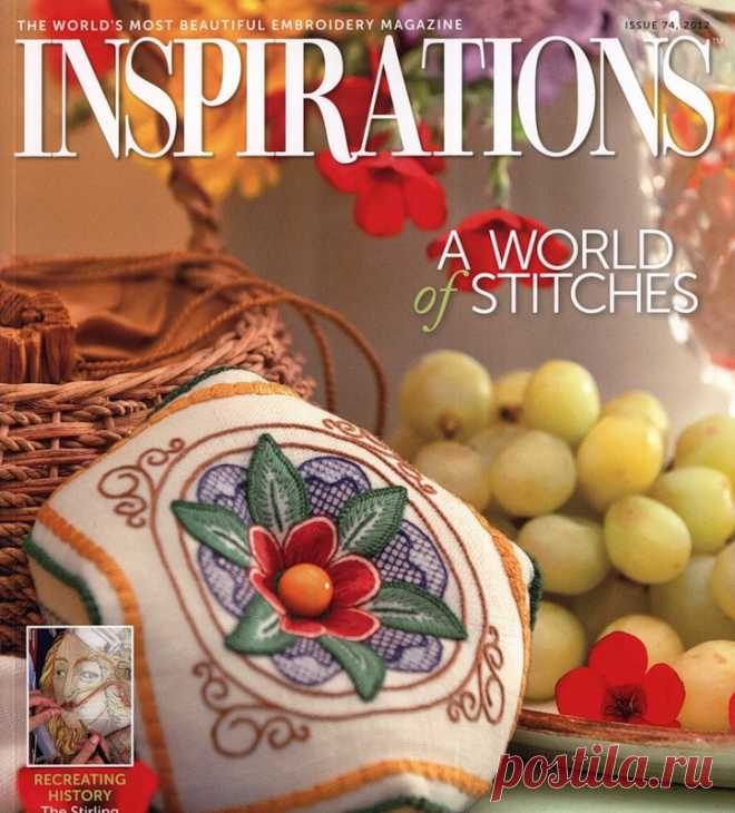 Inspirations No. 74 2010 - An embroidery (miscellaneous) - Magazines on needlework - the Country of needlework