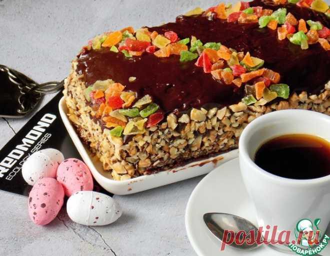 Бисквитный торт с халвой – кулинарный рецепт