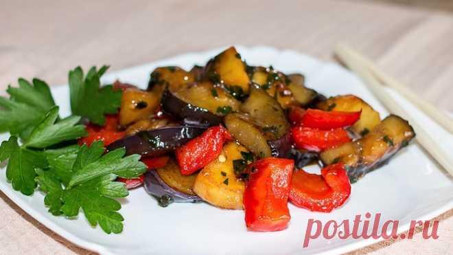 Чисанчи - закуска из баклажанов с картофелем по-китайски         Предлагаю сытную закуску или горячий салат из баклажанов в кисло-сладком соусе по-китайски - Чисанчи. Готовится просто и быстро. На аутентичность блюда я не претендую, очень трудно найти ориги…