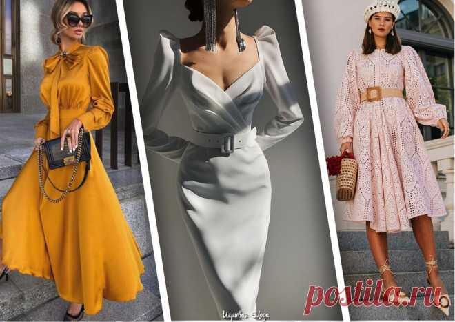 Будем самыми изящными. Топ-10 модных платьев весны 2021 | Иг𝓟ив𝓐я мод𝓐 | Яндекс Дзен