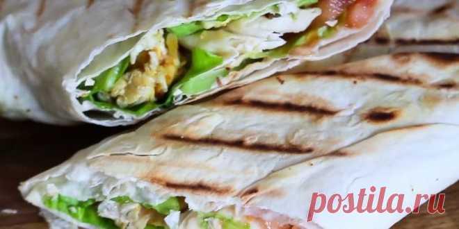 Рецепт пп шаурмы: простой перекус