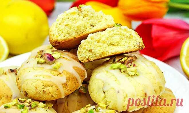 Лимонное печенье с фисташками   Рецепты на FooDee.top