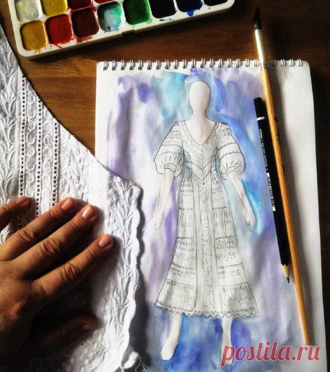 Белое платье из шитья - как добиться стройнящего эффекта? | Время шить | Яндекс Дзен
