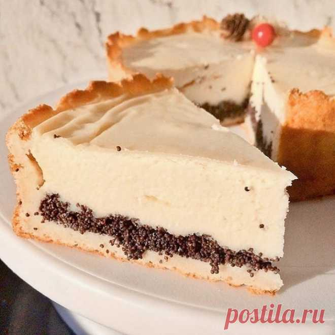 Диетичекий творожно-маковый пирог