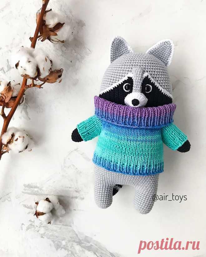 вязаный енот крючком енотик еноты Raccoon Crochet Amigurumi