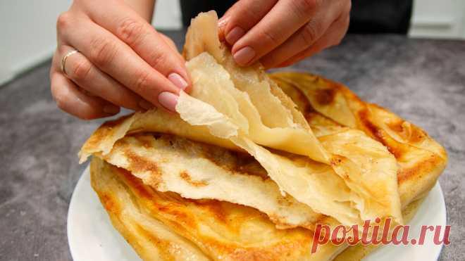 Только мука и кипяток: часто готовлю слоёные лепёшки вместо хлеба (рецепт дала знакомая из Узбекистана Джамилия)   Евгения Полевская   Это просто   Яндекс Дзен