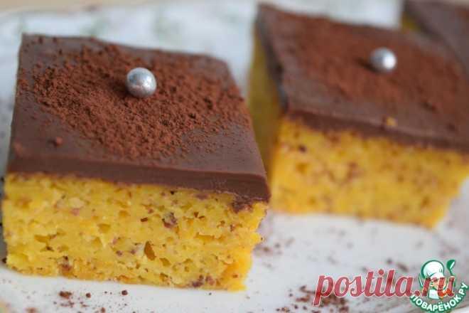 Тыквенный пирог с шоколадной глазурью Кулинарный рецепт