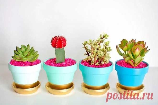 Как украсить цветочный горшок: 12 идей декора с инструкциями — Мастер-классы на BurdaStyle.ru