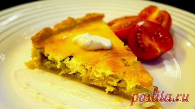 Пирог «киш» с сыром «рокфор»   iCook Online