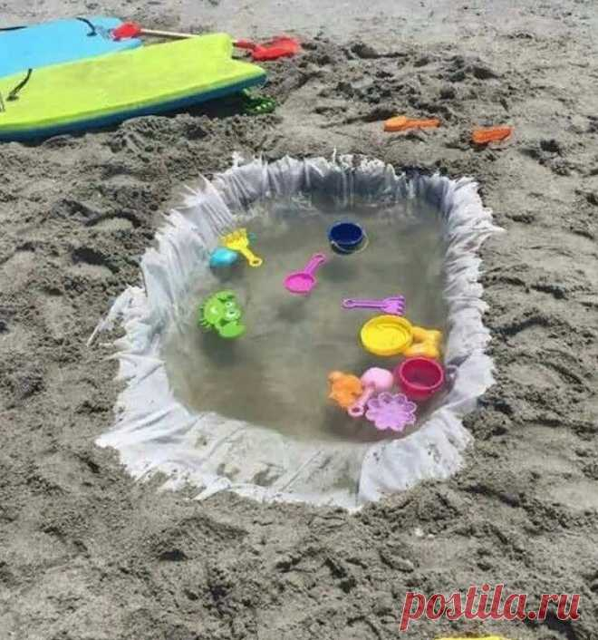 Мешок для мусора=пляжный бассейн Модная одежда и дизайн интерьера своими руками