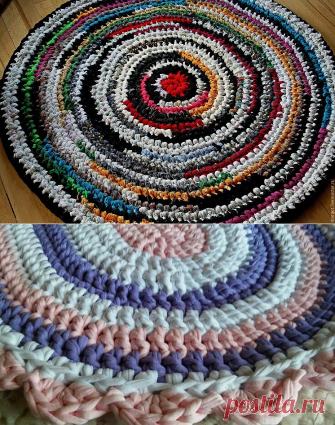 1000 идей для вязания спицами: Интерьерные коврики крючком