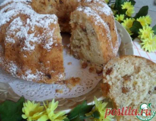 Кекс-бабка с яблоками и изюмом – кулинарный рецепт