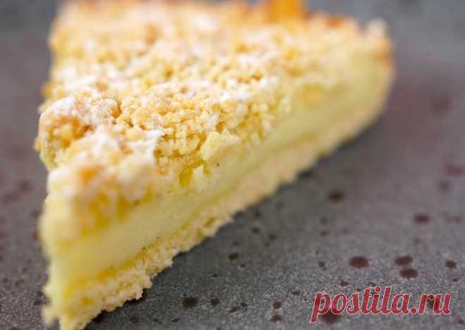 (37) Рассыпчатый пирог с заварным кремом - пошаговый рецепт с фото. Автор рецепта Telnova . - Cookpad