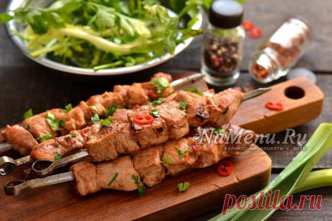 Шашлык из свинины с гранатовым соком, рецепт