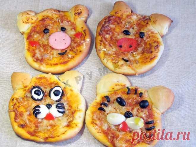 Забавная детская мини пицца для детей