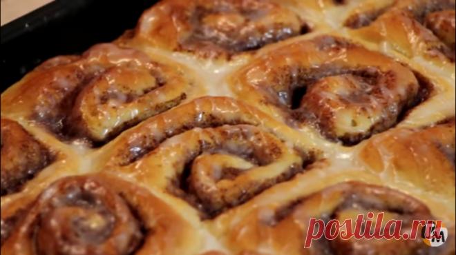 Изумительные булочки с корицей без миксера! — Кулинарная книга