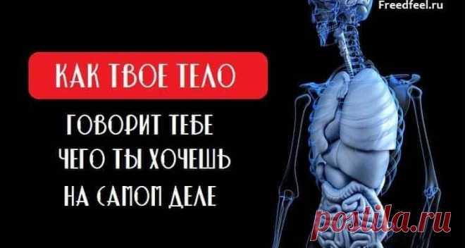 Как твое тело говорит тебе чего ты хочешь на самом деле