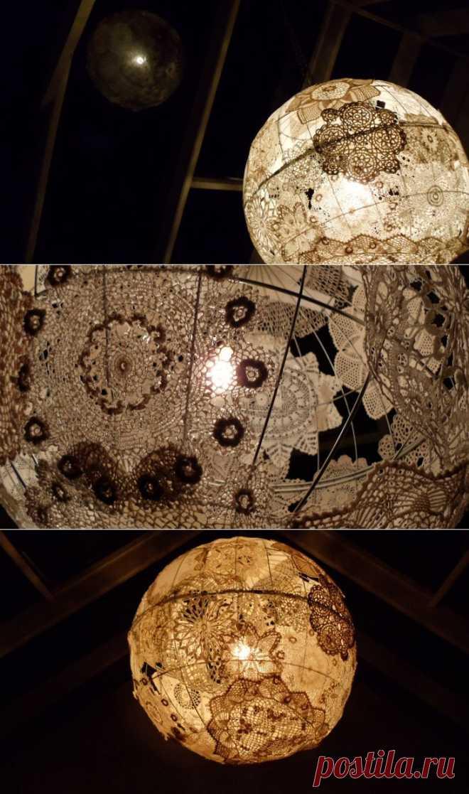 Глобус из салфеток / Освещение / Модный сайт о стильной переделке одежды и интерьера