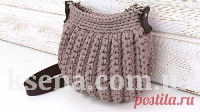 сумки вязаные крючком, купить вязаную сумку, купить сумку ручной работы - Ksena