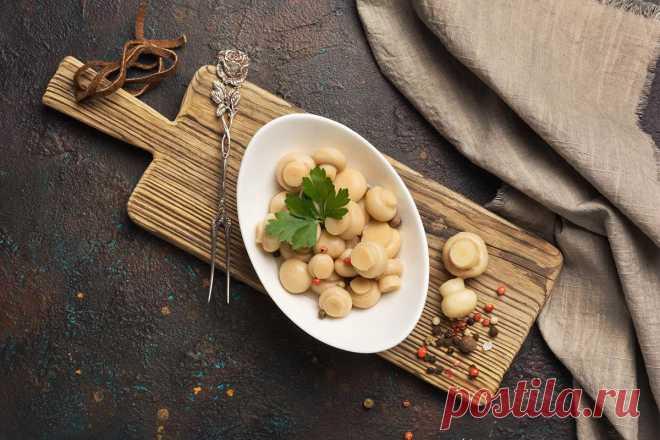 Маринованные шампиньоны: ТОП вкусных рецептов закуски