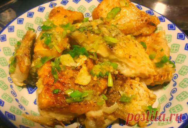 «Рыба в чесночно-сливочном соусе