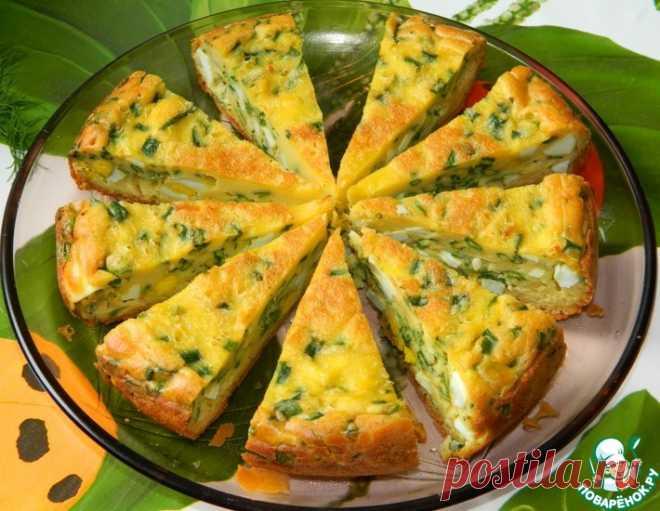 Пирог с яйцами и зеленым луком – кулинарный рецепт