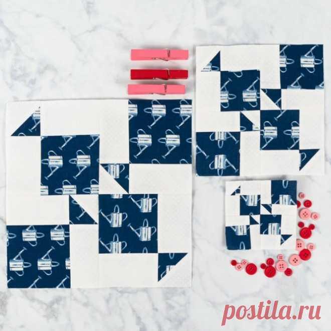 Первый лоскутный блок для Одеяла из 36 разных блоков. Блок *Рыбки* Давайте шить вместе! | Творческий дневник Quiltmania | Яндекс Дзен