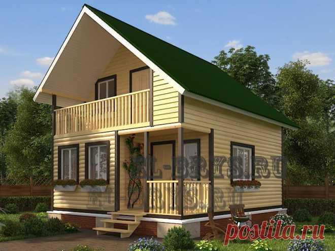 Дом «Шукшин» 6-7 м. | Строительство домов из бруса