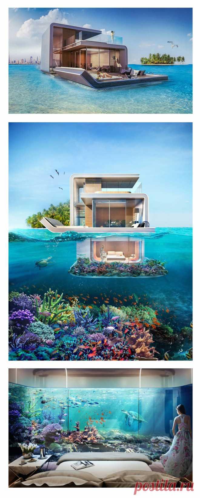 А посмотрите-ка какой плавучий дом придумали строить в арабских эмиратах! Этакая плавающая недвижимость, или плавающая плавающесть... вобщем поражаемся.