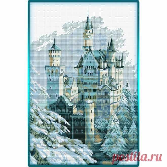 Зимний замок крестом