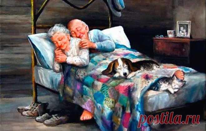 «Когда нам будет восемьдесят пять…» ОНА: Когда мне будет восемьдесят пять, Когда начну я тапочки терять, В бульоне размягчать кусочки хлеба, Вязать излишне длинные шарфы, Ходить, держась за стены и шкафы, И долго-долго вглядываться в небо, Когда все женское, Что мне сейчас дано, Истратится и станет все равно - Уснуть, проснуться, или не проснуться. Из виданного на своем веку Я бережно твой образ извлеку, И чуть заметно губы улыбнутся. © Вера Бутко ОН: Когда мне будет восемьдесят пять, По дому…