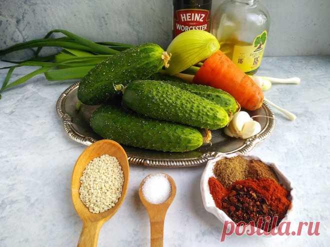 Огурцы по корейски: быстрый рецепт с фото пошагово
