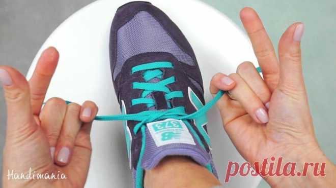 Как завязать шнурки за 2 секунды А вы знаете, как зашнуровать кроссовки за 2 секунды – Самые лучшие и интересные видео по теме: Видео, интересное, совет на развлекательном портале Fishki.net
