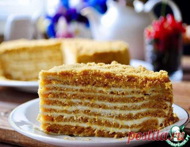 Медовик без раскатки коржей – кулинарный рецепт