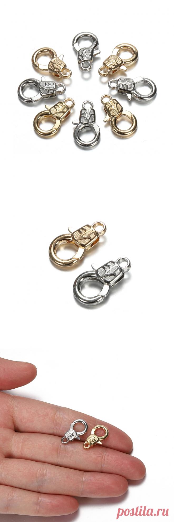 30 шт. 16 мм металлические застежки карабины для браслетов, ожерелья, крючки, застежка цепочка, аксессуары для рукоделия, комплектующие для изготовления ювелирных изделий, сделай сам|Ювелирная фурнитура и компоненты| | АлиЭкспресс