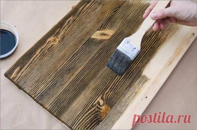 Как с помощью браширования облагородить любую деревянную мебель - Журнал