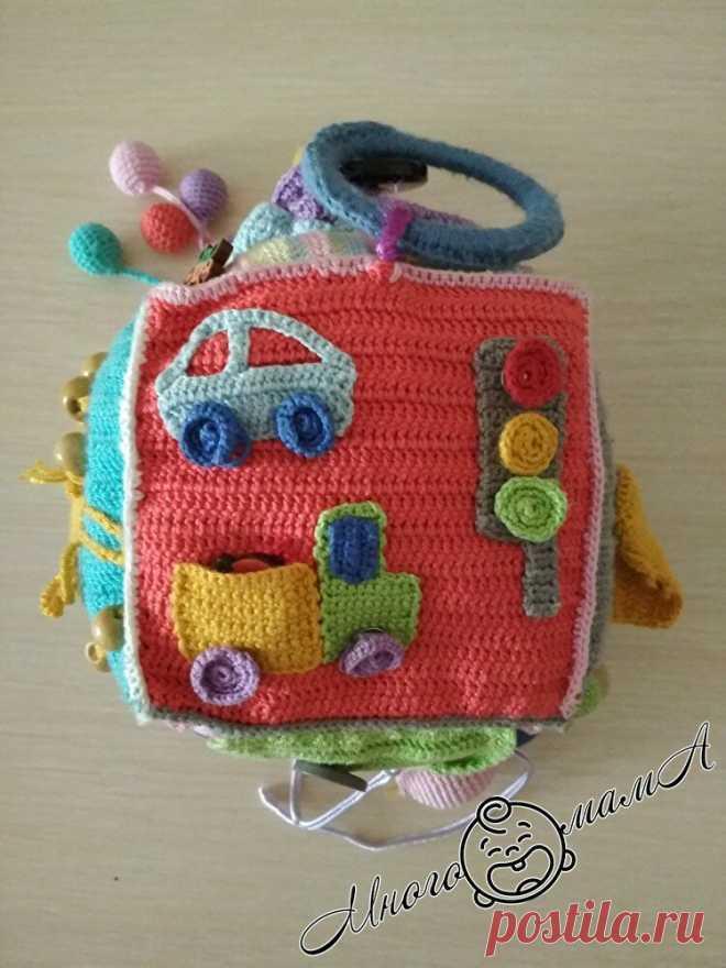 Сделала малышу развивающую игрушку из подручных материалов, делюсь инструкцией | Многомама | Яндекс Дзен