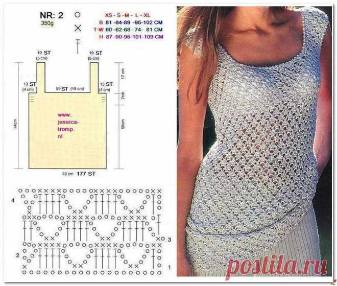 Роскошная подборка летних моделей крючком со схемами вязания