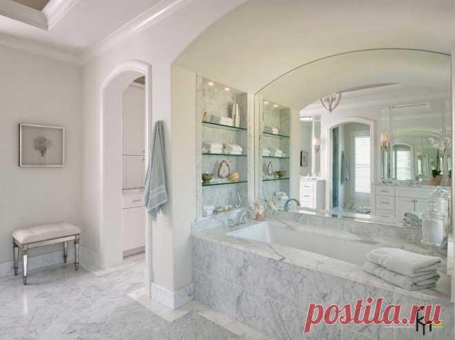 Мраморная ванная: примеры использования мрамора для отделки комнаты
