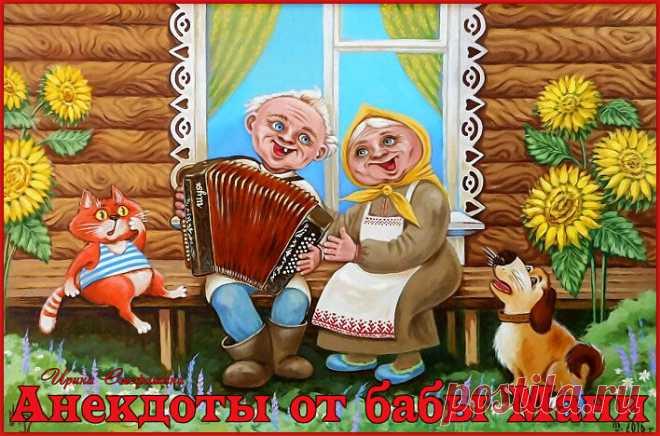 Анекдоты от бабы Мани из села Бабайки.   Ирина Стефашина   Яндекс Дзен