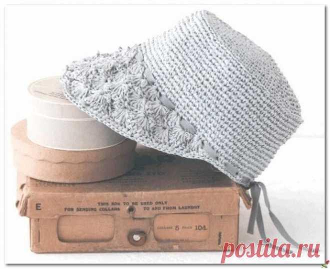 Шляпка-кепка крючком