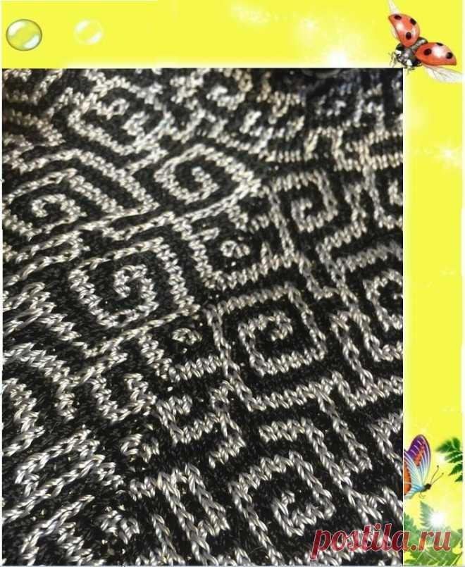Ленивый жаккард. Стыковка узоров по линиям середины полочки, спинки и рукавов | Mария Mоскалёва | Яндекс Дзен