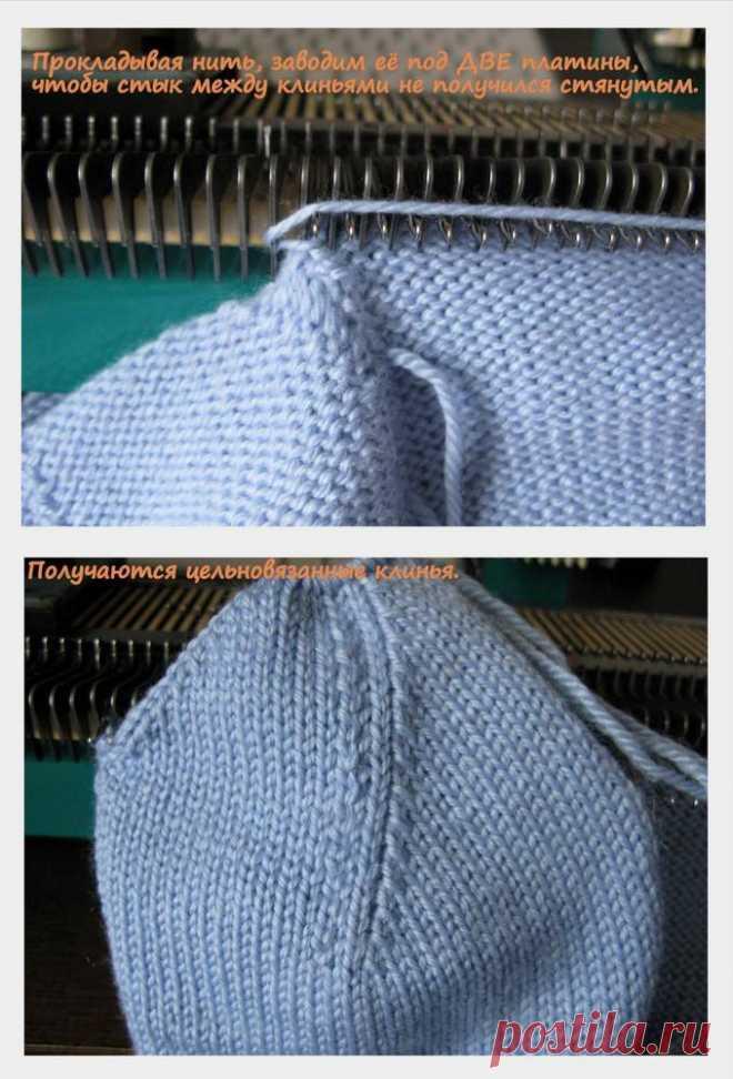 Как вывязать верх шапочки, без сшивания клиньев.