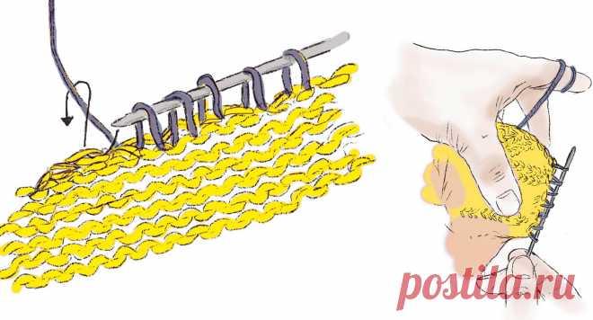 Варианты вывязывания горловины на спицах - запись пользователя Наталья (Наталья) в сообществе Вязание спицами в категории Вязание спицами для начинающих